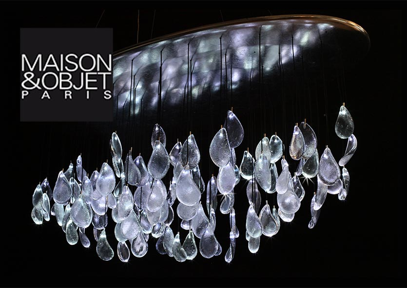 luminaire led pate de verre