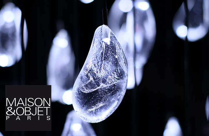 luminaire nuage gouttes de cristal